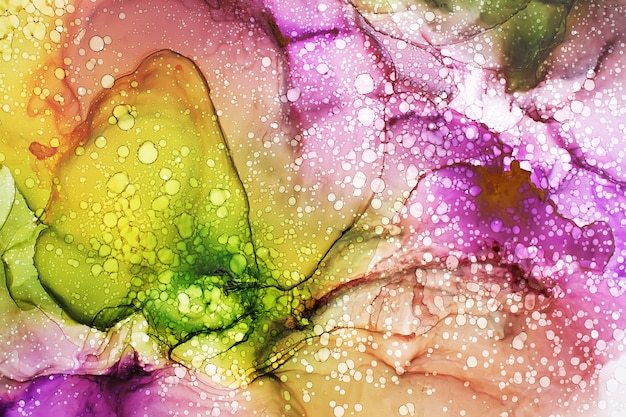 Part of original alcohol ink painting