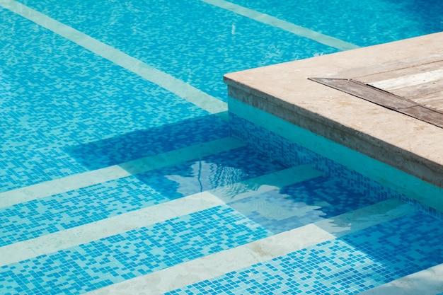 Part of swimming pool closeup
