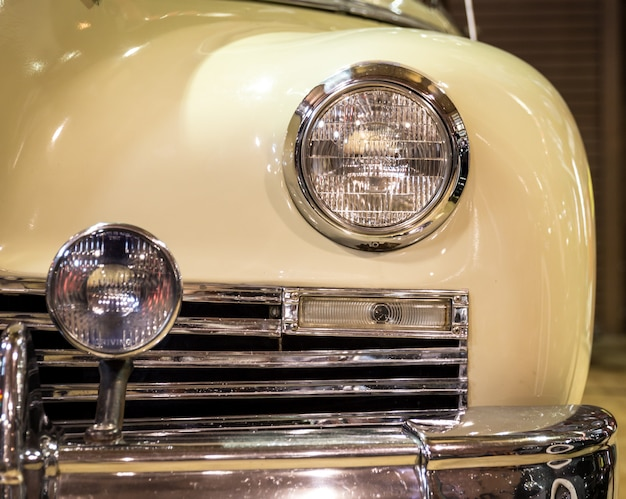 Part of a vintage car