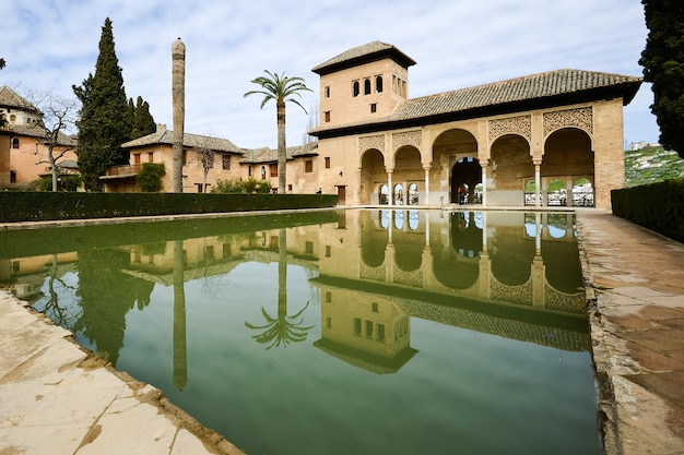 The partal gardens in alhambra