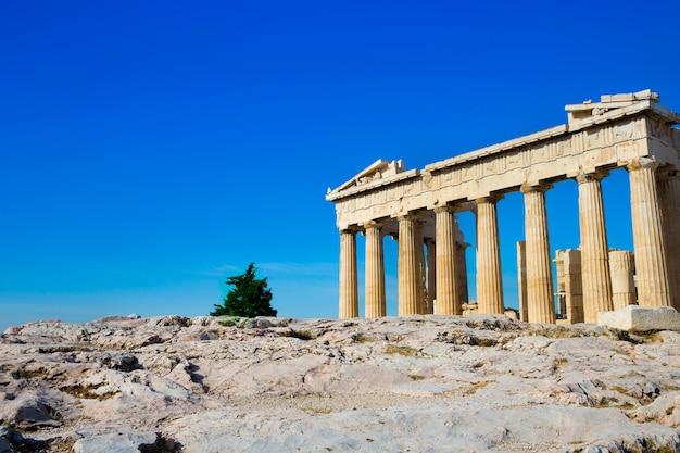 그리스 아테네의 아크로 폴리스에 파르테논 신전