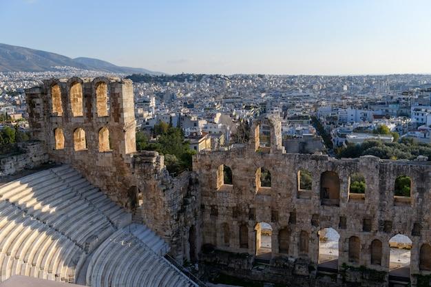 ギリシャ、アテネのアクロポリスのパルテノン神殿。