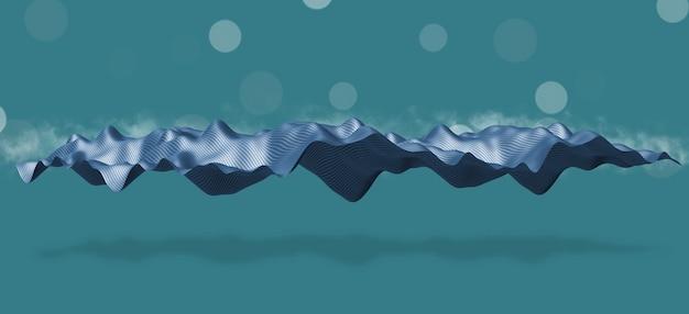 Диск с частицами волны, плавающий в воздухе, концепция фона современных технологий
