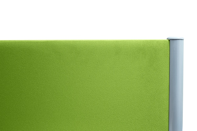 Partition, partition office green color isolated on white background