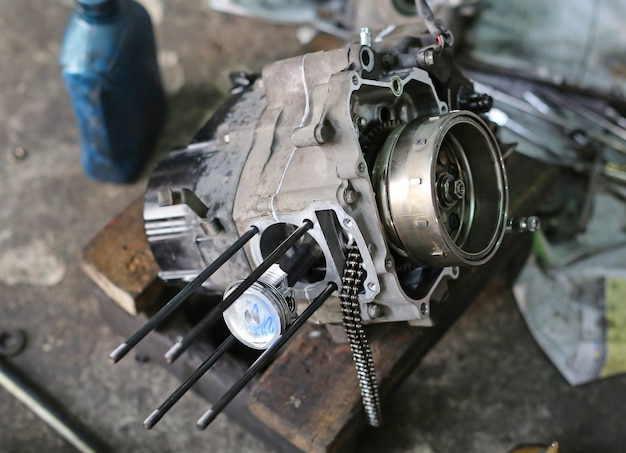 Parts of piston motorcycle engine