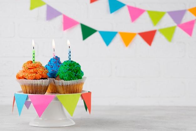 Party cupcakes arrangement