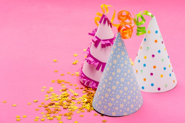 Party items on pink