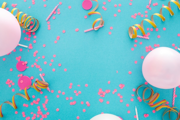 텍스트를위한 공간으로 파티 또는 생일 배너