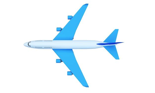 Пассажирский самолет, летящий среди кучевых облаков высоко в небе против s