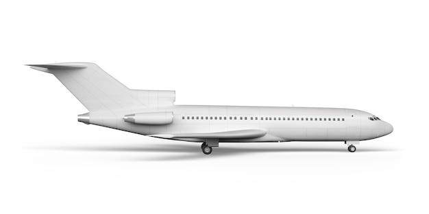 Passenger plane boeing 727 3d render