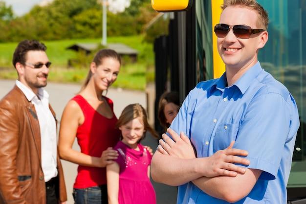 Passengers boarding a bus