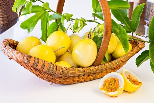 Passion fruit basket