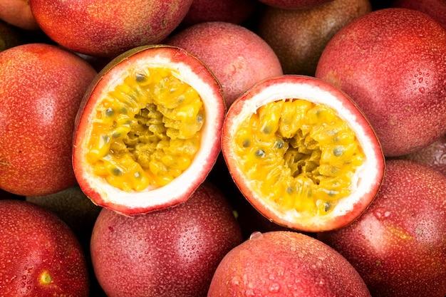 Passion fruit closeup exotic closeup