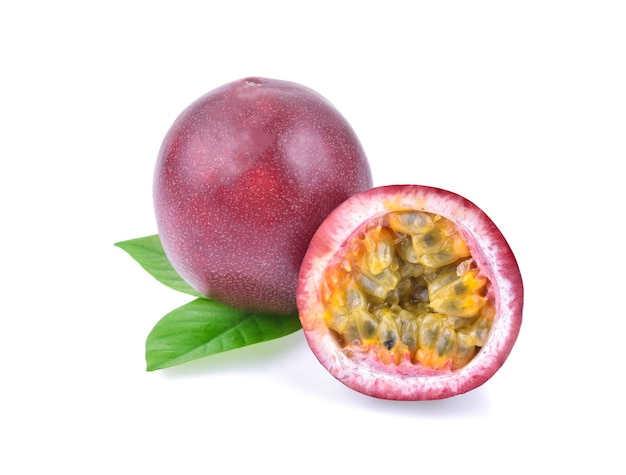 Passion fruit isolated.