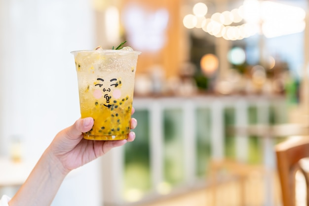 Passion fruit juice with soda