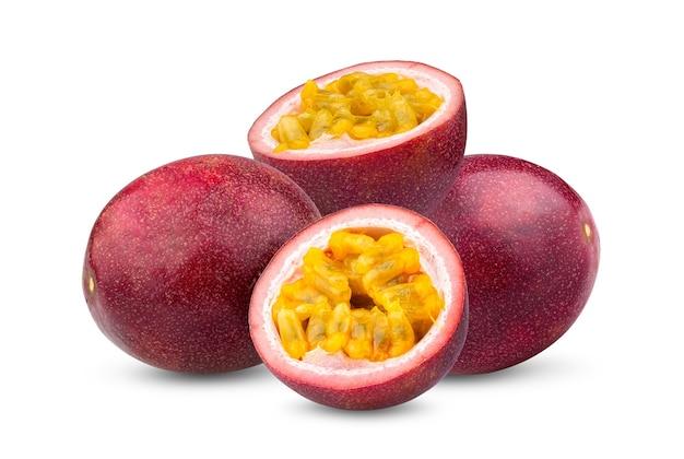 흰색 바탕에 열정 과일
