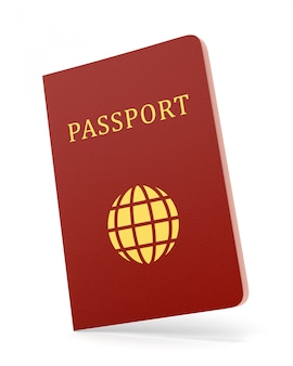Passport isolated on white