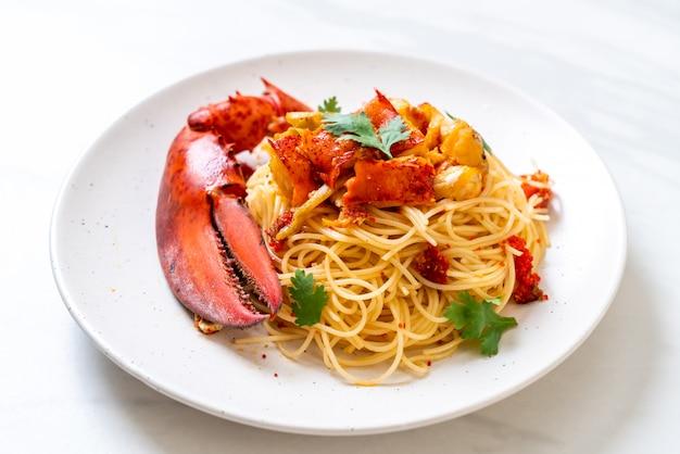 Pasta all'astice or lobster spaghetti