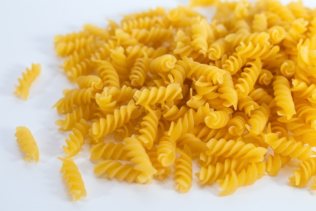 Pasta close up on the table
