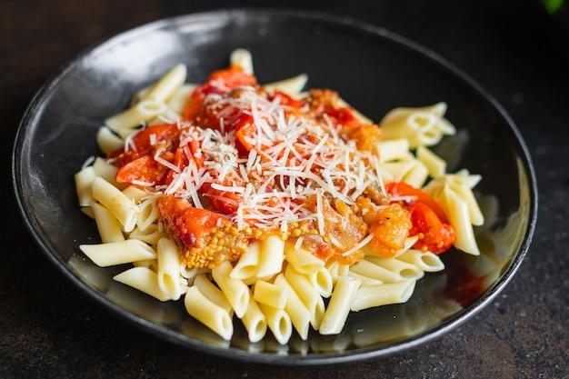 Паста баклажаны томатный соус сыр паста алла норма овощное второе блюдо