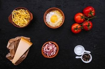 Pasta ingredients composition