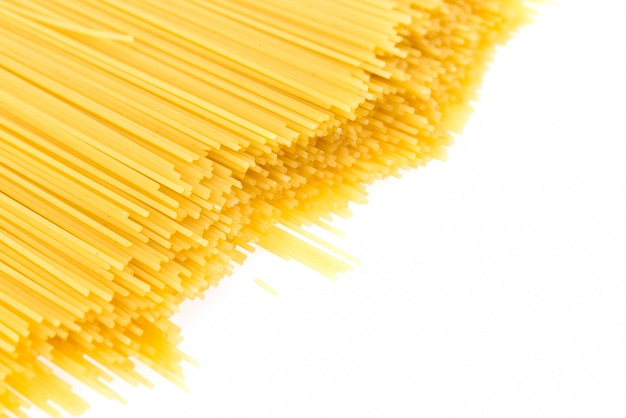 Pasta isolated on white background
