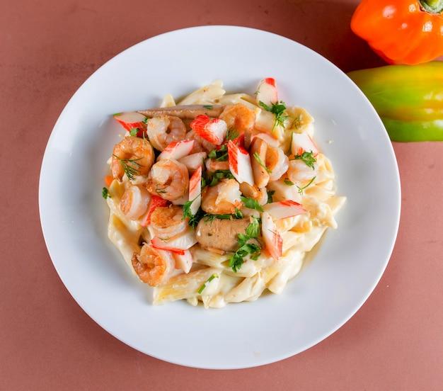 Pasta seafood plate