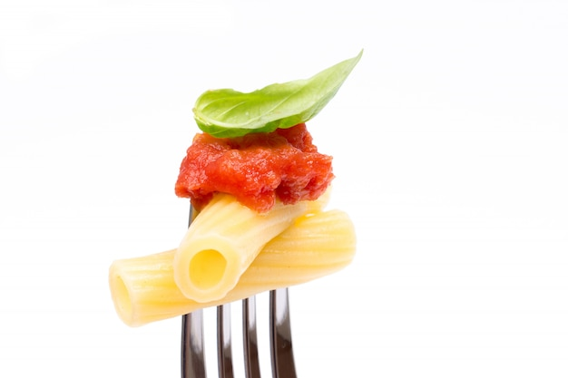 Pasta in white background