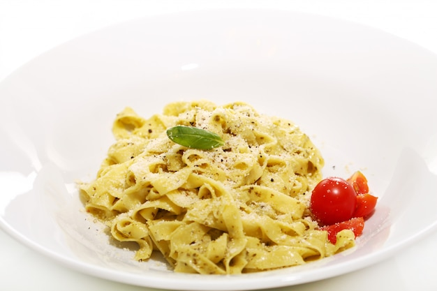 Pasta with cheese and cherry tomato