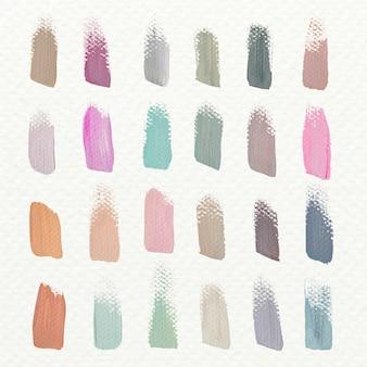 Pastel acrylic brush strokes