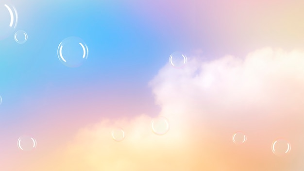 Pastel background bubbles in the sky