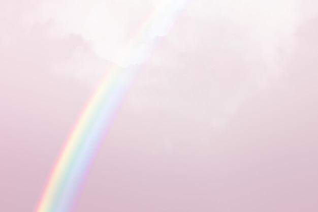 白い虹とパステルカラーの背景
