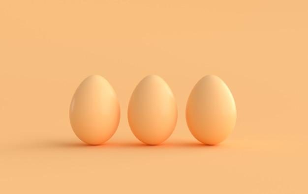 Пастельные бежевые пасхальные яйца на бежевом фоне
