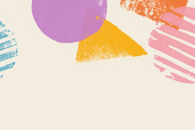 베이지 색 바탕에 파스텔 블록 인쇄 테두리