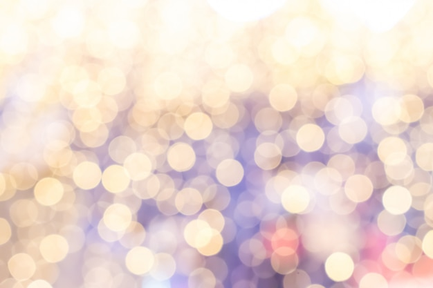 Pastel bokeh background of beautiful light. christmas concept.