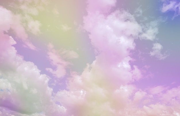 Pastel clouds and sky so sweet and romantic for background