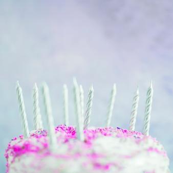 Pastel color birthday cake
