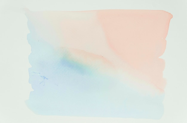 Pastel color brushstroke stains surface