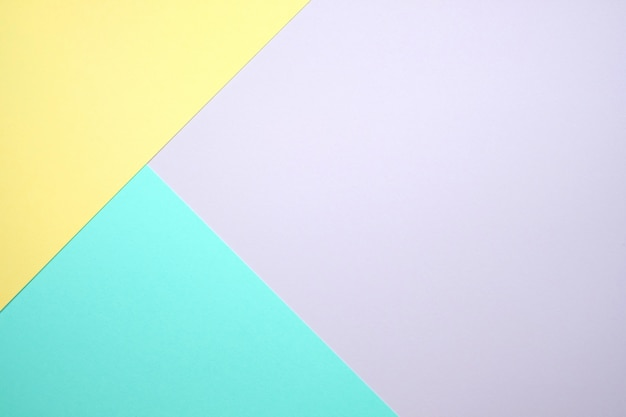 Pastel color paper flat lay  background