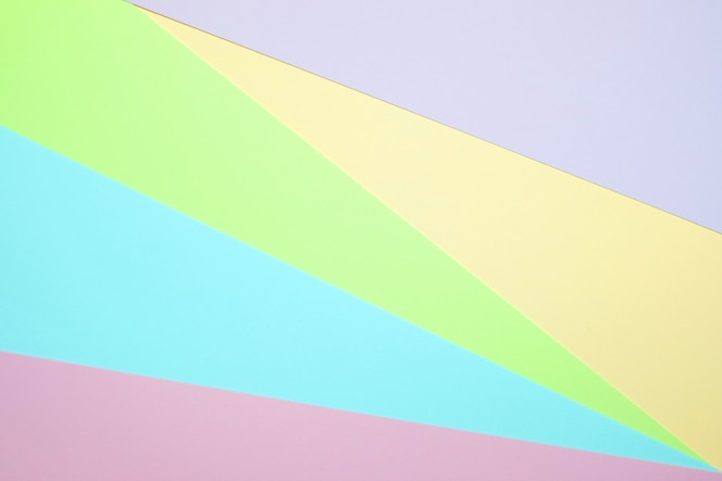 Pastel color paper flat lay