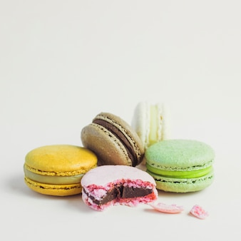 Pastel color stacked macaron