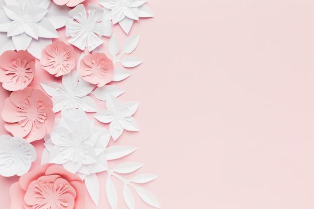 종이 꽃의 파스텔 색상