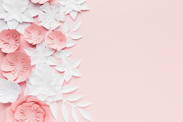 Colori pastello per fiori di carta