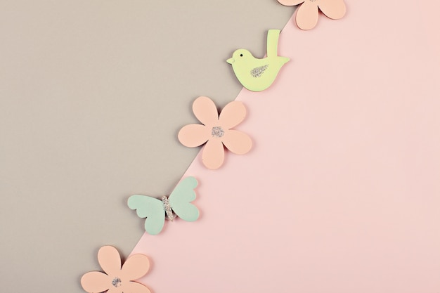 Pastel decorative minimal background