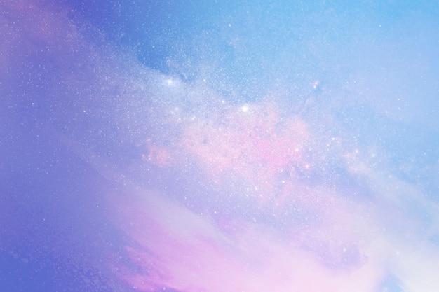 パステル銀河パターン背景イラスト