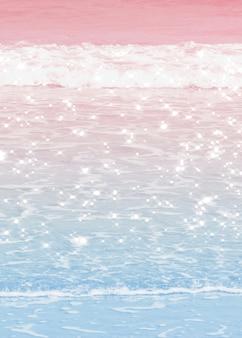 Пастельные омбре океанские волны фоновое изображение