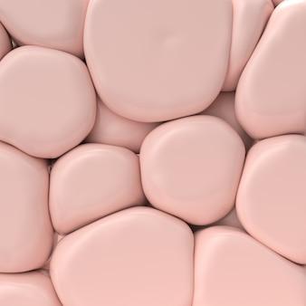 Пастельно-розовый фон с большими камнями