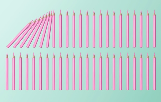 Pastel pink color domino effect