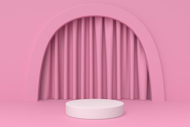 Пастельный розовый цвет геометрическая форма подиум
