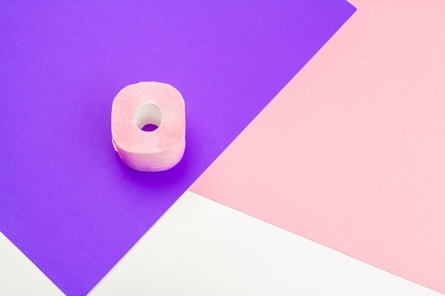 Pastel pink toilet paper
